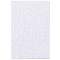 New! Sizzix 3-D Textured Impressions Embossing Folder - Jeweled Snowflakes 664489