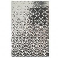 New! Sizzix 3-D Textured Impressions Embossing Folder - Star Fall 664508