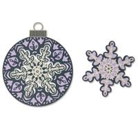 New! Sizzix Thinlits Die Set 6PK - Layered Snowflake 664584