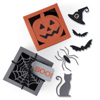 New! Sizzix Thinlits Die Set 12PK - Box, Spooky Silhouette 664577