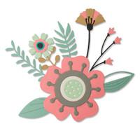 New! Sizzix Thinlits Die Set 15PK - Creative Florals 664450