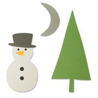 New! Sizzix Bigz Die - Snow Scene 664484