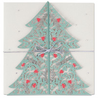New! Sizzix Thinlits Die Set 2PK - Christmas Tree Card 664467