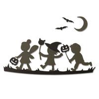 New! Sizzix Thinlits Die Set 6PK - Halloween Silhouettes 664588