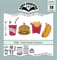 Oh Yeah! They're In!  New! Karen Burniston - Fast Food Charms 1135