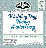 Oh Yeah! They're In! New! Karen Burniston - Word set 12-Anniversary 1137