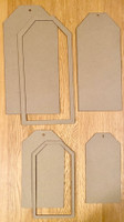 New! ItsCheaperThanTherapy - Jumbo Chipboard Tags/Shaker Set Straight 6 pc.