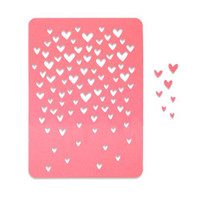 New! Sizzix Thinlits Die - Drifting Hearts 663451