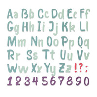 New! Sizzix Thinlits Die - Bold Brush Alphabet 664491