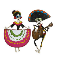 New! Sizzix Thinlits Die Set 21PK - Day of the Dead, Colorize by Tim Holtz 664969
