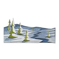 New! Sizzix Thinlits Die Set 6PK - Snowscape, Colorize by Tim Holtz 664971
