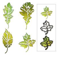 New! Sizzix Thinlits Die Set 8PK - Leaf Print by Tim Holtz 664970