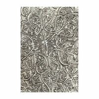 New! Sizzix 3-D Texture Fades Embossing Folder - Engraved by Tim Holtz 664249