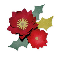 New! Sizzix Bigz Die - Winter Poinsettia 664513