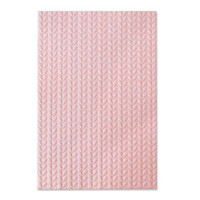 New! Sizzix 3-D Textured Impressions Embossing Folder - Knitted 664509