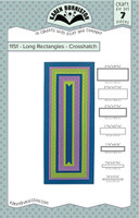 Oh Yeah! They're In! New! Karen Burniston - Long Rectangles Crosshatch 1151