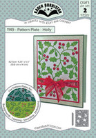 Oh Yeah! They're In! New! Karen Burniston - Pattern Plate Holly 1149