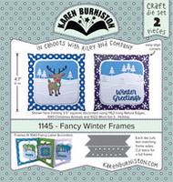 Oh Yeah! They're In! New! Karen Burniston - Fancy Winter Frames 1145