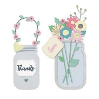 Thinlits Die Set 17PK - Jar of Flowers by Lisa Jones 665079
