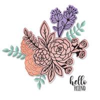 Framelits Die Set 6PK w/Stamps - Floral Bunch by Jen Long