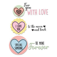 Framelits Die Set 8PK w/Stamps - Love Hearts by Olivia Rose