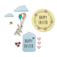 Sizzix Framelits Die Set 9PK w/Stamps - Easter Fun by Lisa Jones 665065