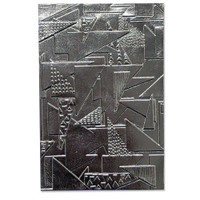 3-D Textured Impressions Embossing Folder - Doodle Triangles by Jessica Scott