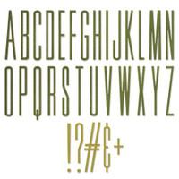 Thinlits Die Set 31PK - Alphanumeric Stretch Upper by Tim Holtz