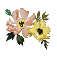 Thinlits Die Set 7PK - Brushstroke Flowers #1 by Tim Holtz