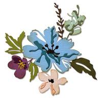 Thinlits Die Set 8PK - Brushstroke Flowers #2 by Tim Holtz