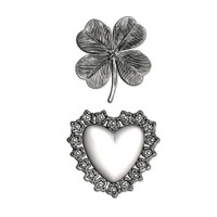 3-D Impresslits Embossing Folder - Lucky LoveÌ_by Tim Holtz