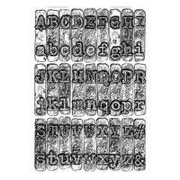 3-D Texture Fades Embossing Folder - Typewriter by Tim Holtz