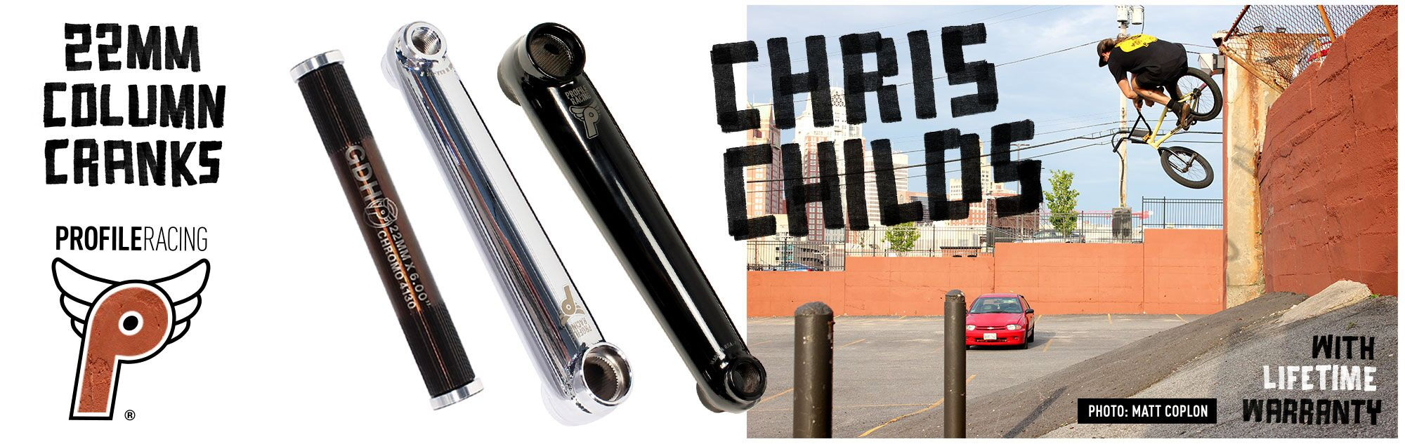 Profile Racing Column Cranks at Albe's BMX Online