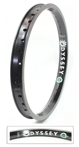 Odyssey Aerospace rim in Black at Albe's BMX