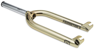 Kink Foundation II Fork in Gold at Albe's BMX Bike Shop