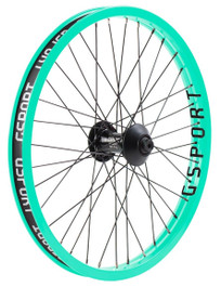 Gsport Elite V2 Front wheel in Toothpaste at Albe's BMX Bike Shop Online