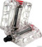 Odyssey Twisted PC Pedals In Clear at Albe's BMX Bike Shop