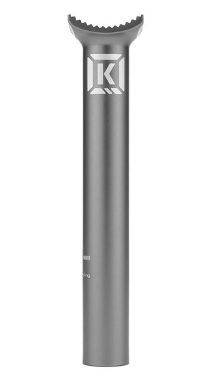 Kink Medium Pivotal Seat Post in grey at Albe's BMX Online