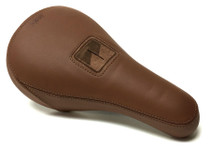 Merritt SL1 Pivotal BMX Seat in Brown Leather at Albe's BMX Bike Shop