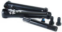 Academy Pro BMX cranks in black at Albe's BMX Bike Shop Online