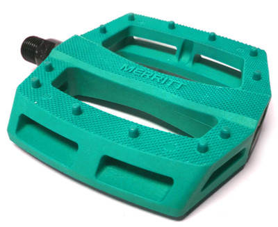 Merritt P1 BMX Pedal in teal at Albe's BMX