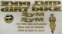 S&M DIRT BIKE LOWRIDER DECAL SET