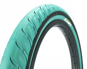 Merritt Option Tire in Teal at Albe's BMX Bike Shop Online