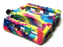 Stolen Thermalite pedals in Tie Dye at Albe's BMX