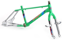 Haro 1986 Master Frame and Fork Kit in Green at Albe's BMX