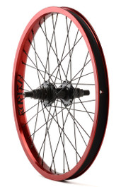Verde Regent Rear Cassette BMX Wheel in Red at Albe's BMX Shop
