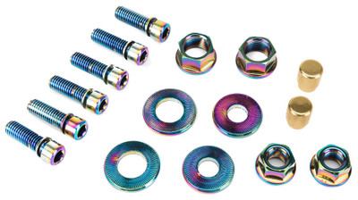 Salt BMX Nut and Bolt Set in Oil Slick at Albe's BMX Bike Shop