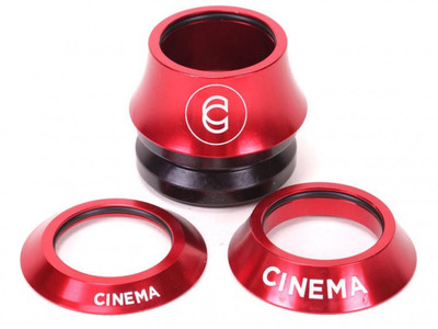 Cinema BMX Lift Kit Headset in red at Albe's BMX Bike Shop