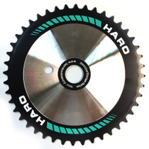 Haro Team Disc CD Sprocket in 44t black / teal color at Albe's BMX