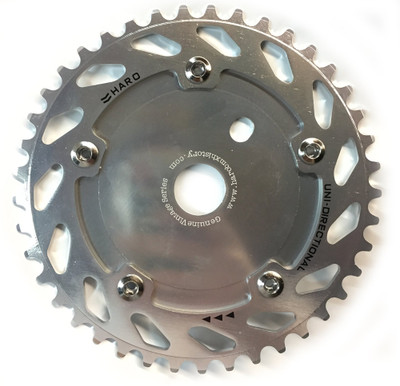 Haro Unidirectional Chain Ring Sprocket in silver at Albe's BMX